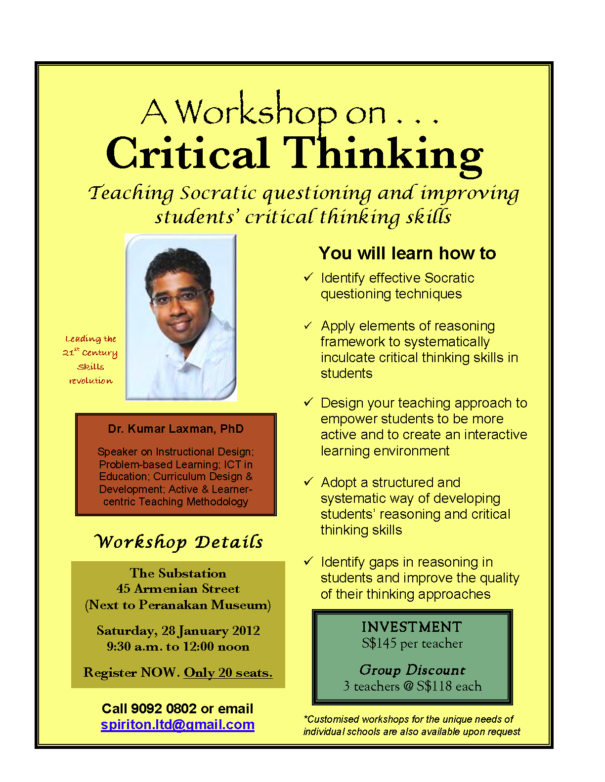 critical thinking courses australia
